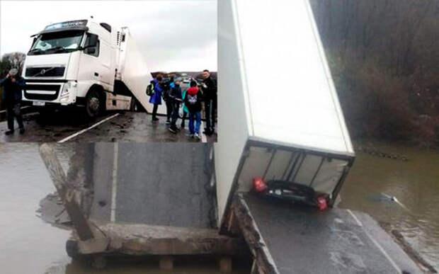 В Приморье под большегрузом рухнул автомобильный мост