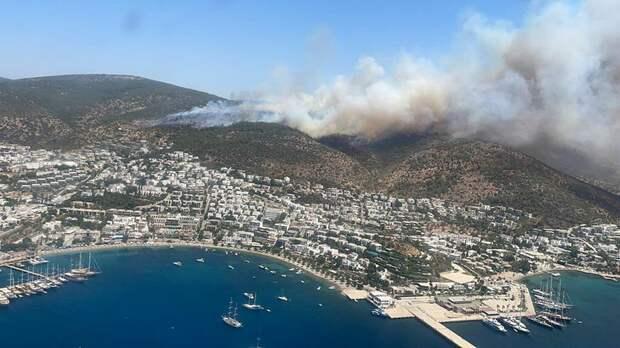 Российских туристов из-за лесных пожаров эвакуируют из отелей в турецком Бодруме