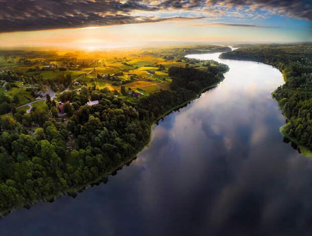20 изумительных видов Литвы с высоты птичьего полёта