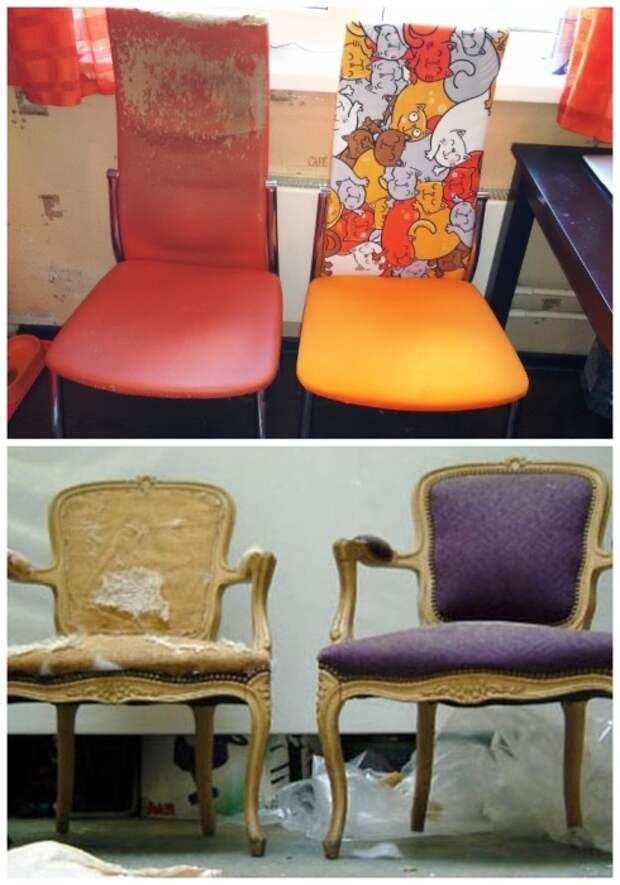 Реставрировать стулья под силу даже дилетантам. | Фото: pikabu.ru.