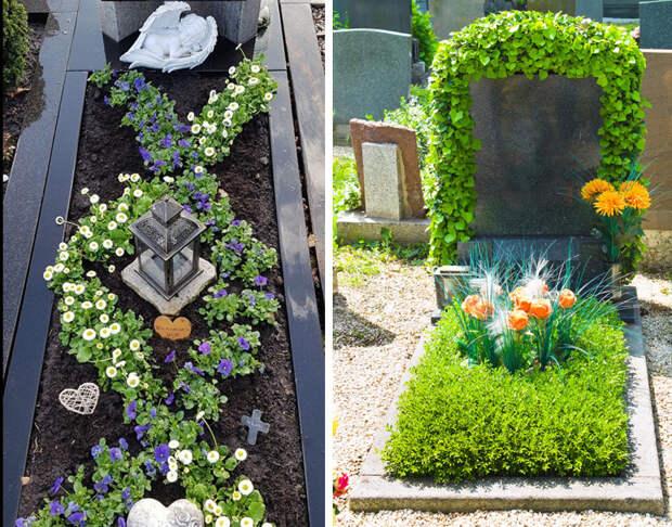 цветы на кладбище посадить