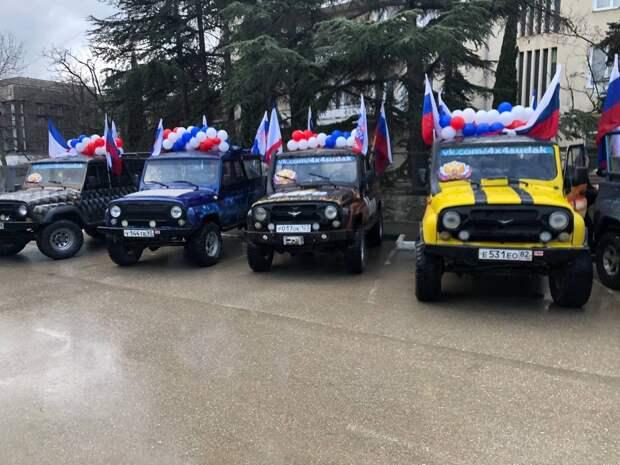 В Судаке стартовал автопробег, посвящённый семилетию воссоединения Крыма с Россией