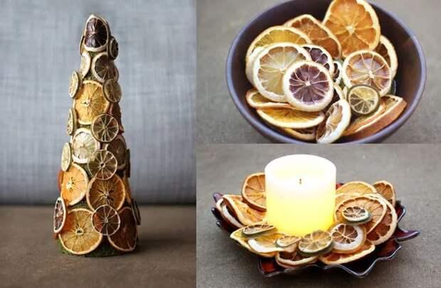 Новогодний декор из сухофруктов