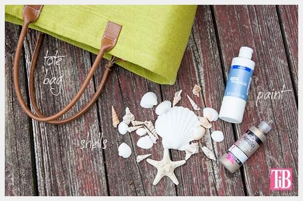 Сумка с ракушками (для пляжа) (Diy)