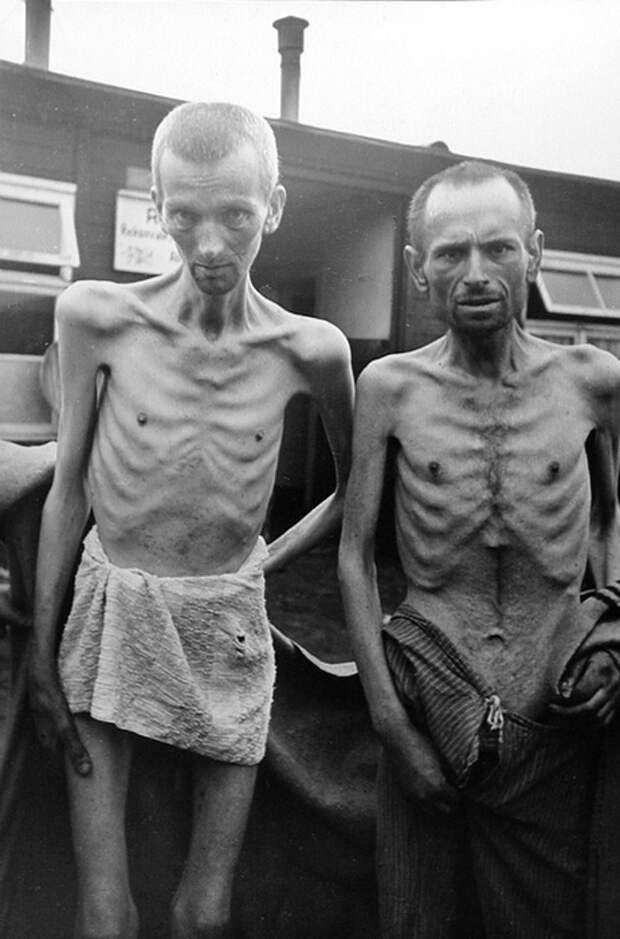 Советские военнопленные в Маутхаузене.