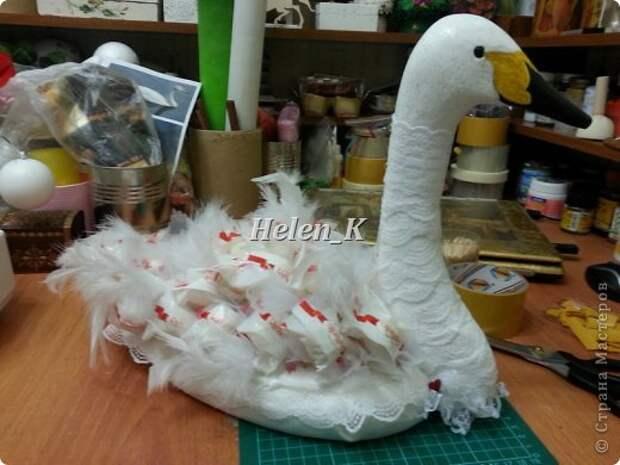 Мастер-класс Свит-дизайн 8 марта День рождения Свадьба Моделирование конструирование мастер класс лебедь с раффаэлло фото 9