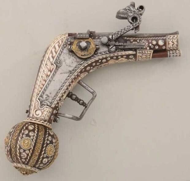 Саксонский пистолет, с колесцовым замком и инкрустацией, 1529 искусство, огнестрел, оружие, старинное