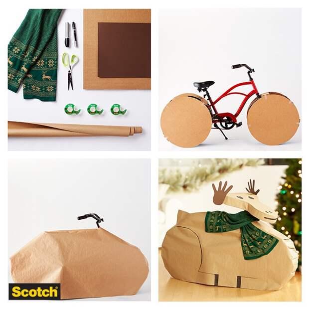 Как упаковать велосипед в подарок