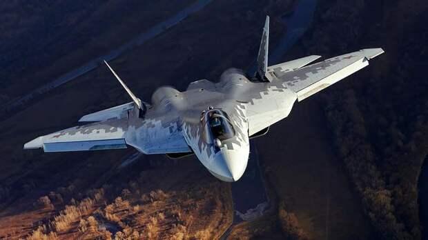 Истребитель Су-57 будет нести целую стаю беспилотников