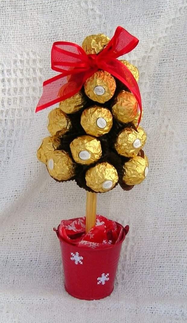 Как необычно оформить сладкий подарочек своими руками.
