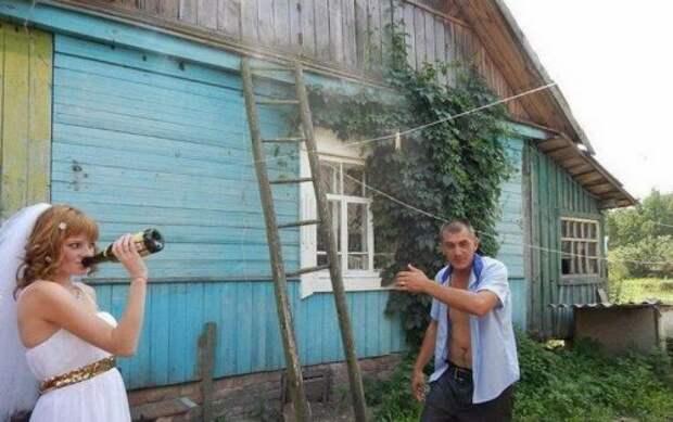 Веселые и разбитные деревенские свадьбы (17 фото)