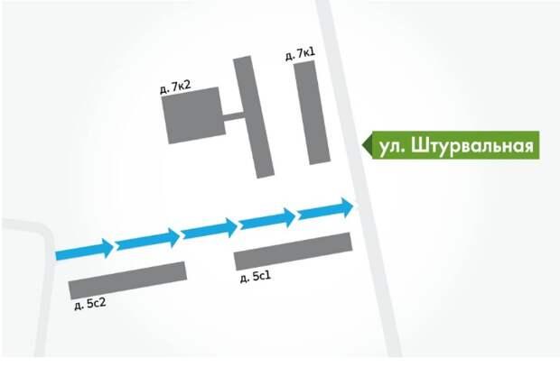 В проезде на Штурвальной улице вводится одностороннее движение