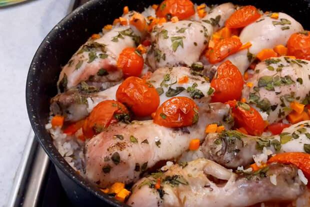 Курица с рисом в духовке: быстрое блюдо для ужина