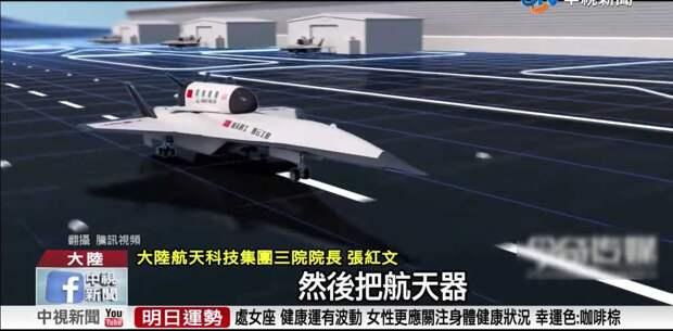 Китай разрабатывает многоразовый военный космоплан