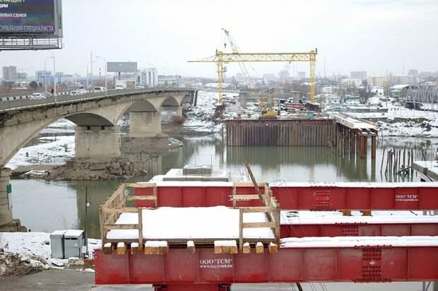 В Краснодаре завершили первый этап строительства нового Яблоновского моста