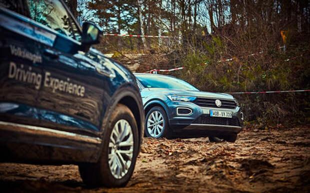 Необычный тест: VW T-Roc с Халдексом против Туарега с Торсеном