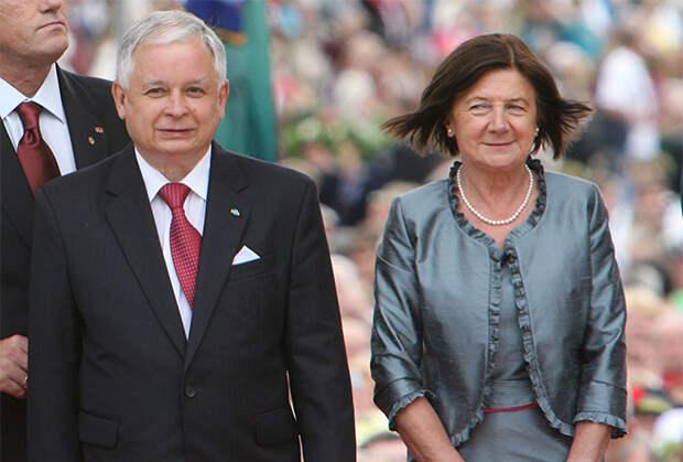 Президент Польши Лех Качиньский с супругой Марией. 6 июля 2009 года
