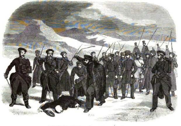 Этапирование осужденных в Сибирь.