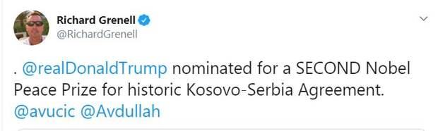 В США сообщили, за что выдвинули Трампа на Нобелевскую премию мира