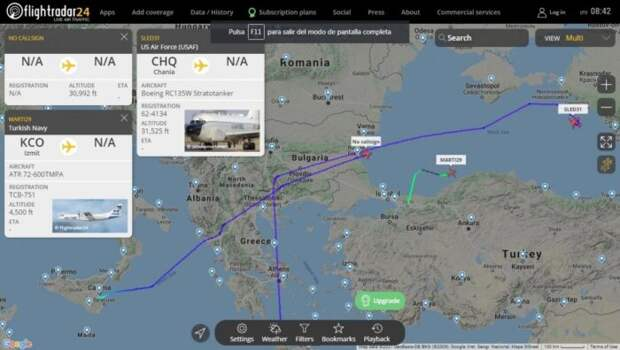Турецкий самолёт дважды засутки устраивал провокации уграниц России