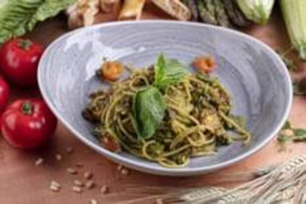 Весеннее, Овощное - Спагетти с брокколи и вялеными томатами