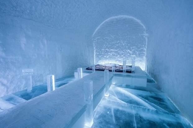 Леденящая красота ледяного отеля в Юккасъярви