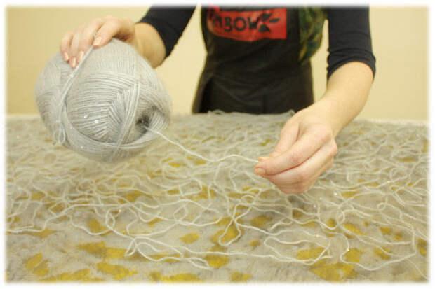 Создаем волшебную сказку: легкий жакет-накидка из шерсти и пряжи