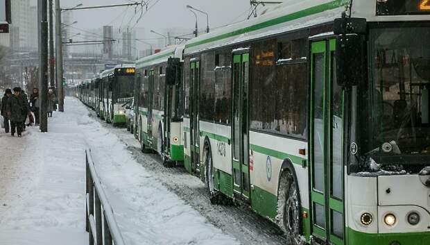 Автобусы в Подмосковье готовы к работе в мокрый снег и гололедицу