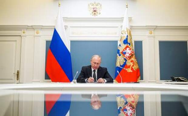 На фото: президент РФ Владимир Путин