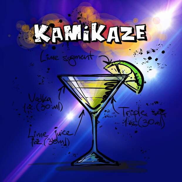 """Kamikaze"" – a Japanese cocktail"