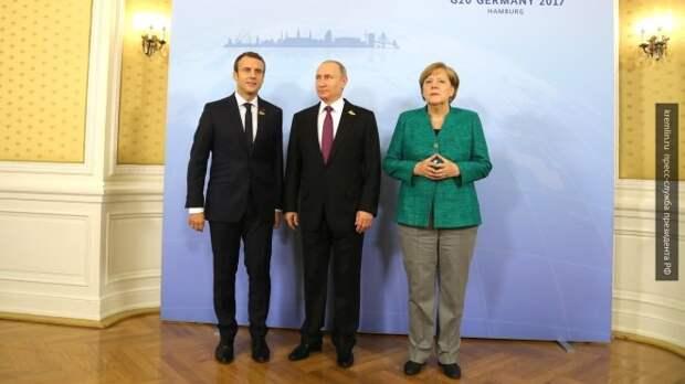 FT: Путин может радоваться моменту - Меркель и Макрон проложили путь к его двери