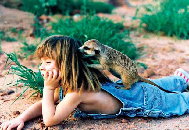 Девочка Маугли, которая все детство провела среди слонов и гепардов