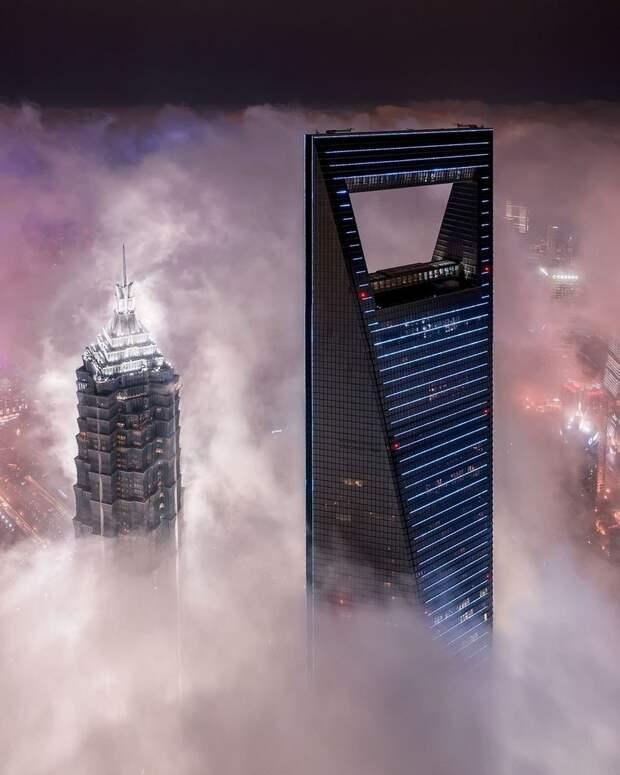 Брутальный Шанхай: головокружительные городские фотопейзажи Аарона Шао
