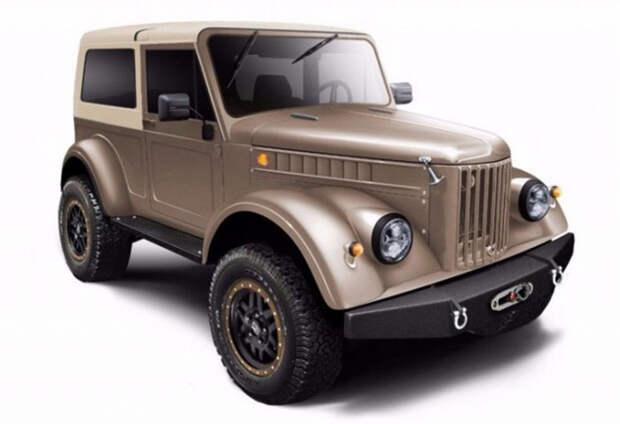 ГАЗ-69 - автомобиль и в новом облике готов для преодоления любых препятствий.