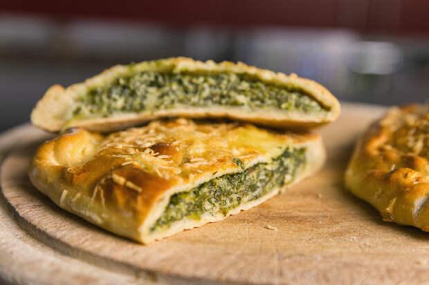 Пироги со шпинатом и творожным сыром пирог, видео рецепт, рецепт, шпинат, в духовке, кальцоне, рецепты выпечки, видео