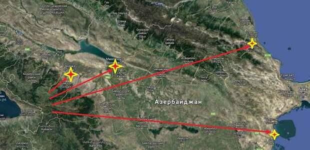 Армения нанесла удар по Азербайджану баллистическими ракетами Р-17