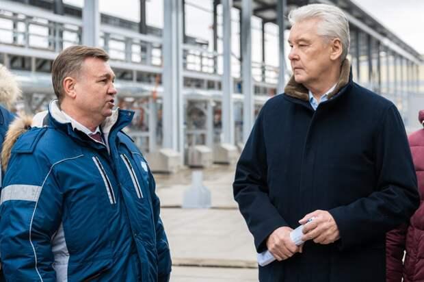 Мэр Москвы побывал на реконструкции очистных сооружений в Некрасовке