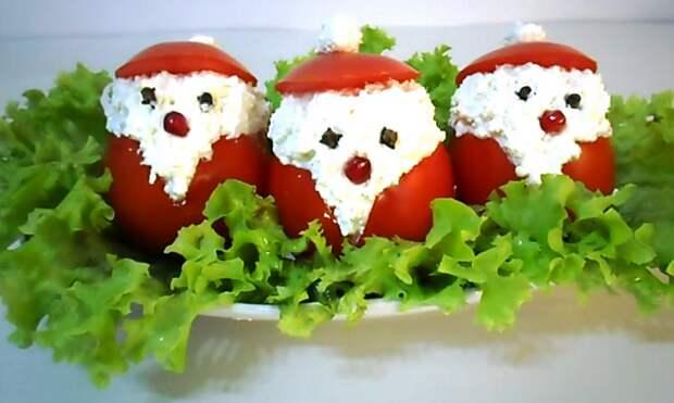 """Оригинальная Новогодняя закуска за 10 минут - """"Дед Мороз красный нос"""""""