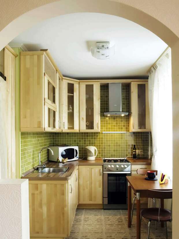 Дизайн маленькой кухни: обеденный стол - 02 - Портал Домашний