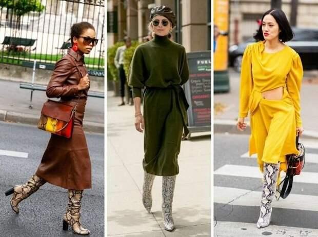С какой обувью сочетать платья миди?
