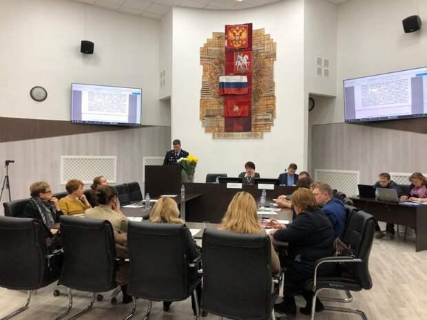 Член Общественного совета при УВД по САО принял участие в отчете перед муниципальными депутатами в Головинском районе