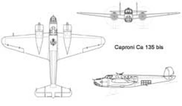 Схема самолета Caproni