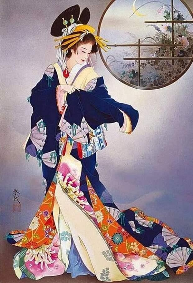 Художник Haruyo Morita. Нежна и свежа, как веточка цветущей сакуры