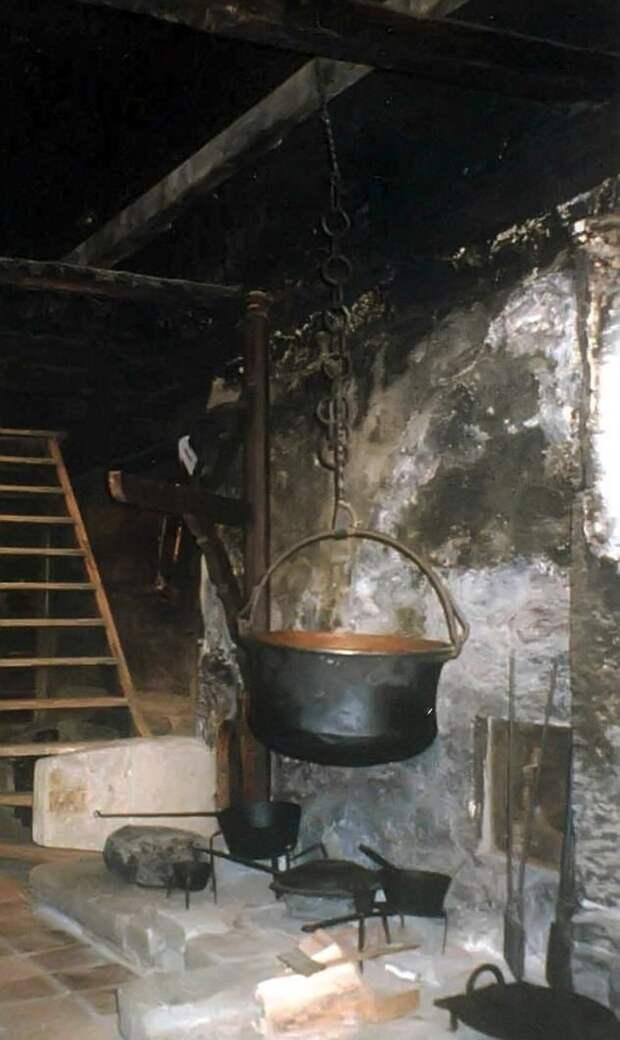 В Европе до 18 века, люди готовили на открытом огне, на дровах или торфе, топки были в форме очага или позже, с изобретением труб- вдоль стен, типа камина- пламя располагалось низко, варили преимущественно в подвешенных котлах всячина, интересное, история, кухня, плита, факты