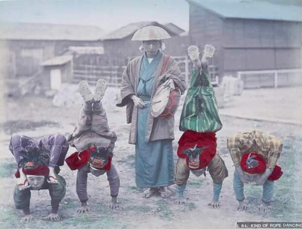 Невероятные цветные фото Японии XIXвека