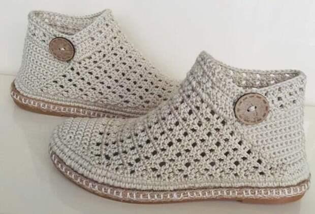 Вязаная обувь. Подборка моделей