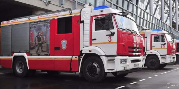 Горящий мусорный контейнер на Ленинградке потушили пожарные