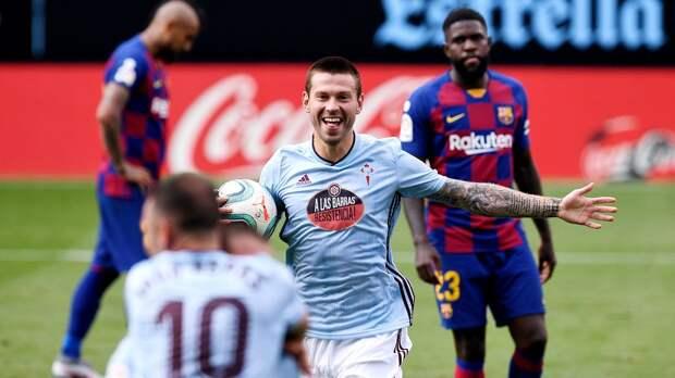 Смолов — гроза испанских грандов. Забил «Реалу», а теперь и «Барсе»
