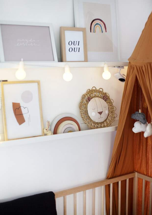 как украсить комнату малыша