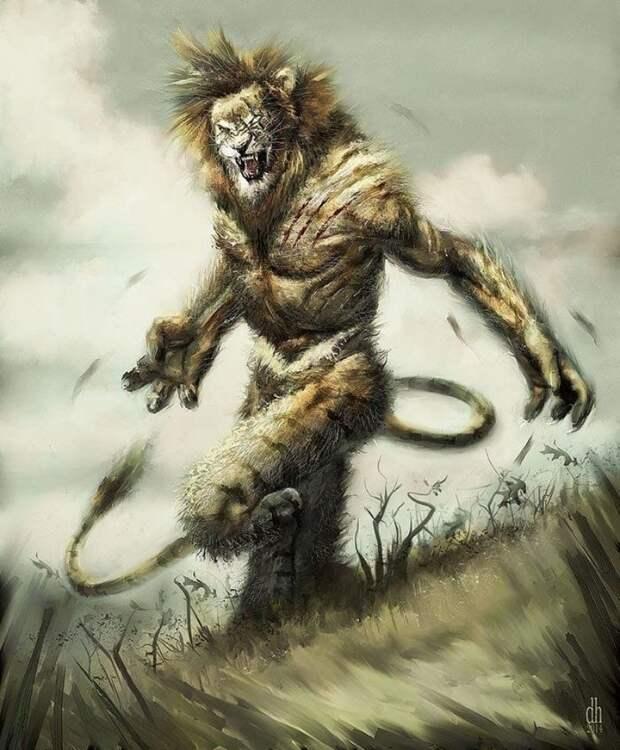 Если бы эволюция пошла по другому пути иллюстрации, искусство, рисунки, человекоподобные звери
